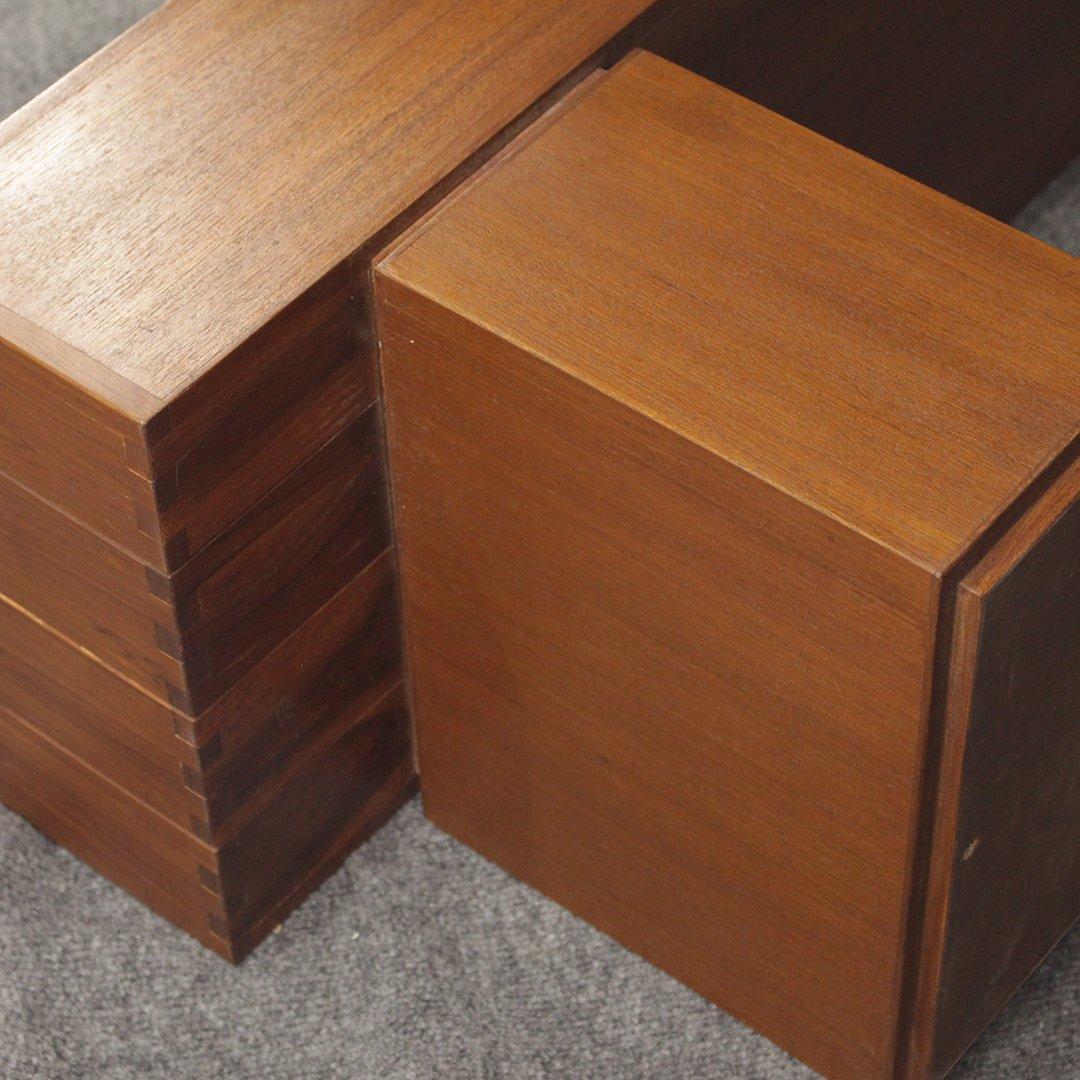 Mid-Century Modern Teak Bench / Stand, Fine Quality - 5