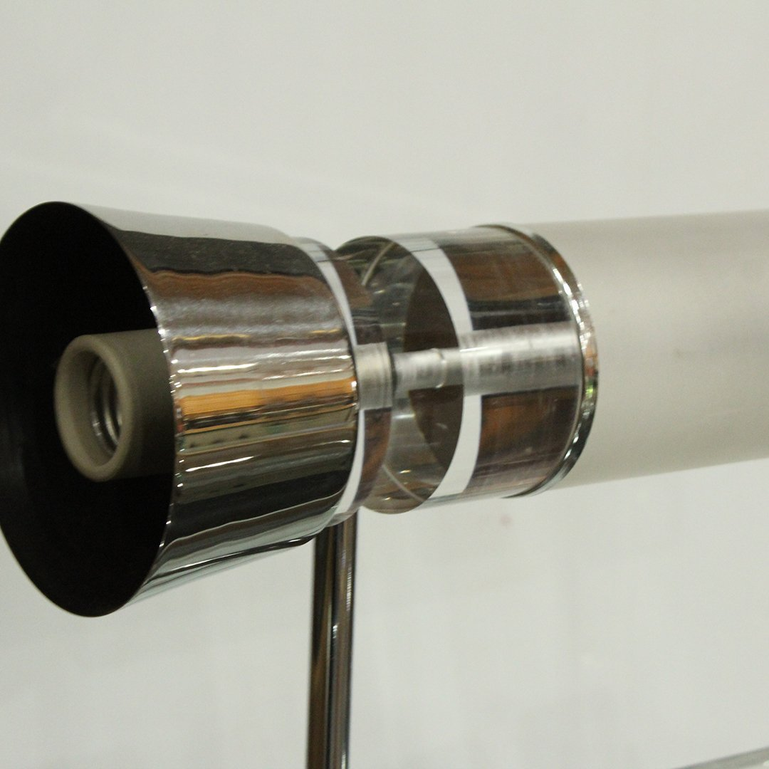Chrome and Lucite Modern Design Wall Sconce 1970's - 2