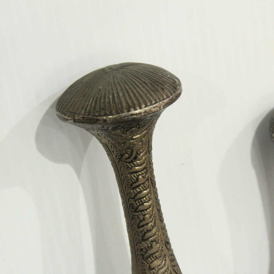 Two [2] Silver Plate Top Handle Walking Stick Canes - 2