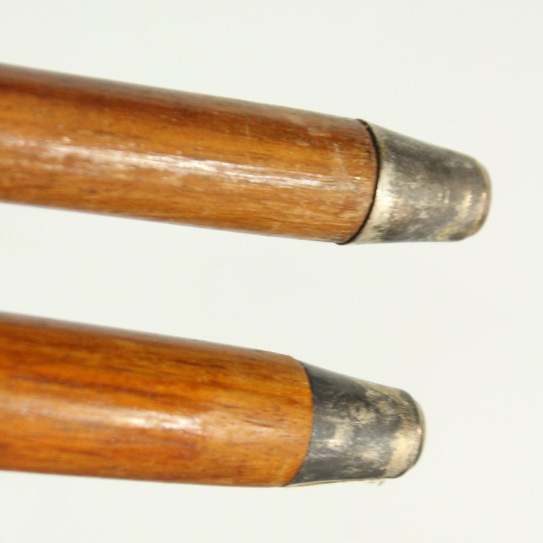Two [2] Silver Plate Top Handle Walking Stick Canes - 9