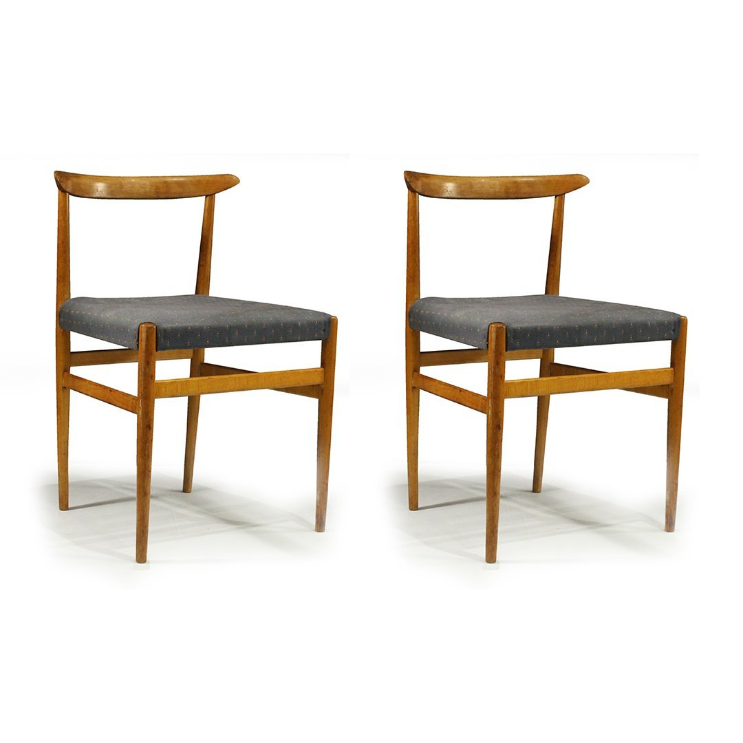 Two [2] Hans Wegner Style Side Chairs - Later