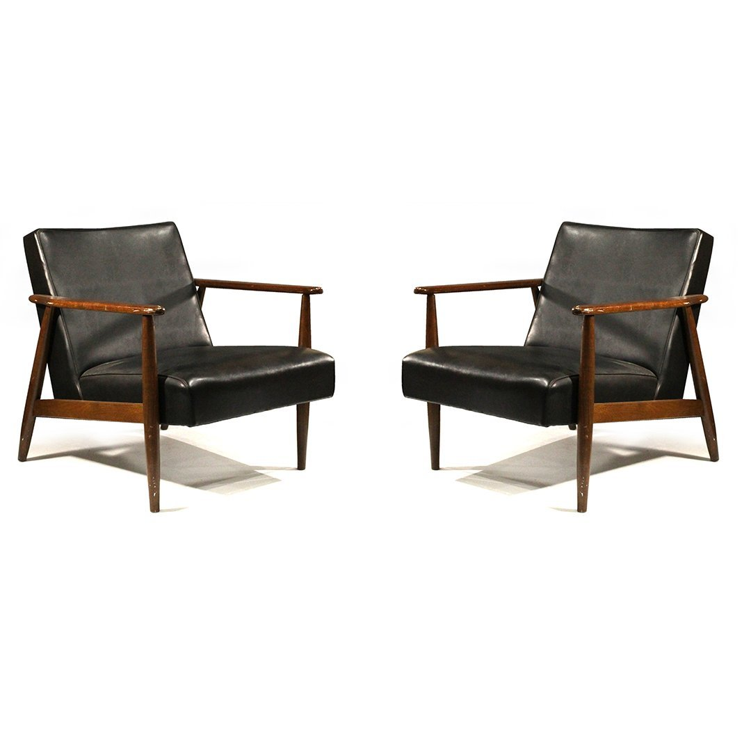 Two [2] Mid-Century Danish Design Lounge Arm Chairs