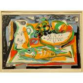 Mid-Century Modern Abstract Lithograph - Mohel