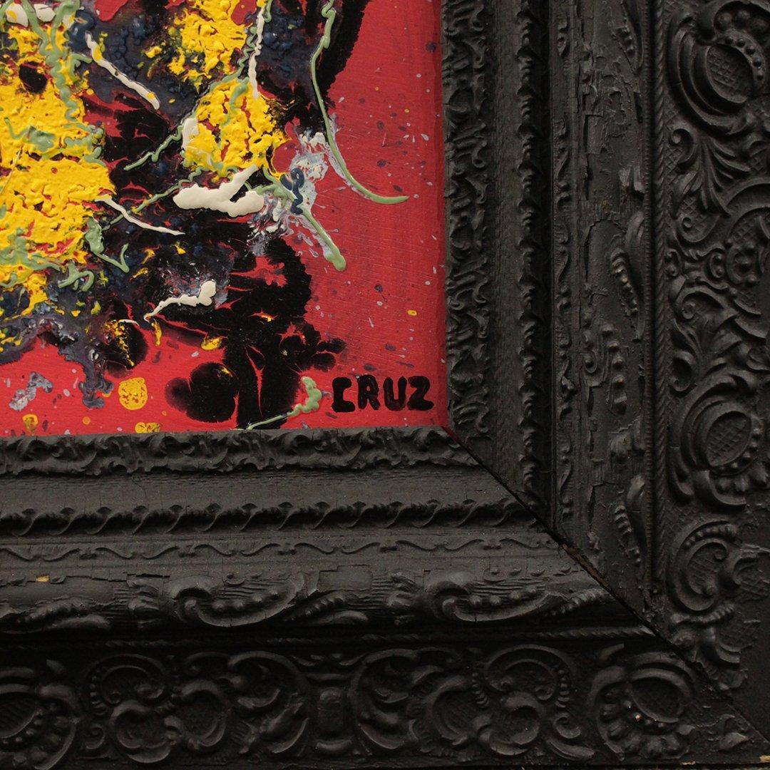 Cruz, Latin American Artist, Mid-Century Drip Abstract - 2