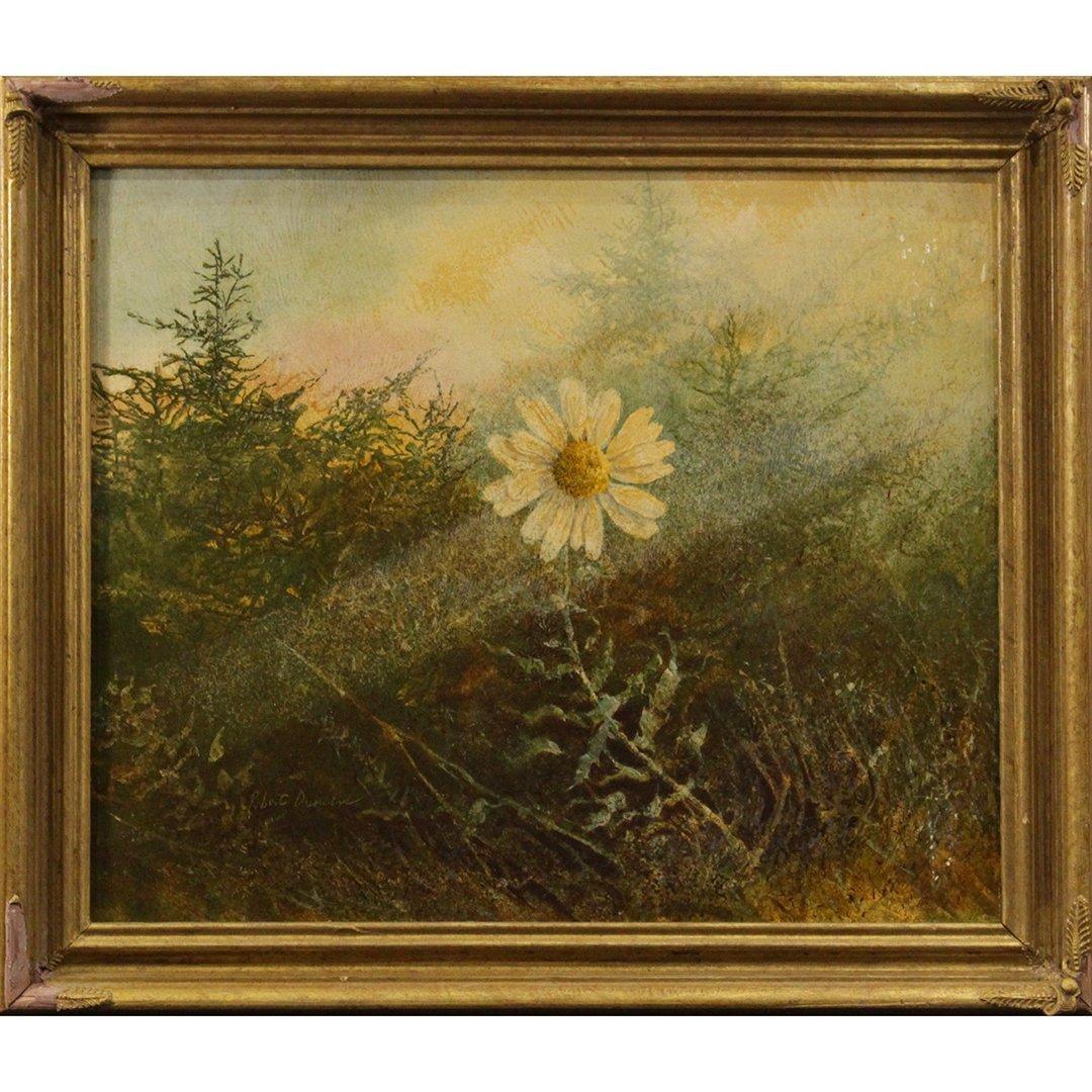 Robert Duncan, Oil on board, Daisy Flower in Landscape