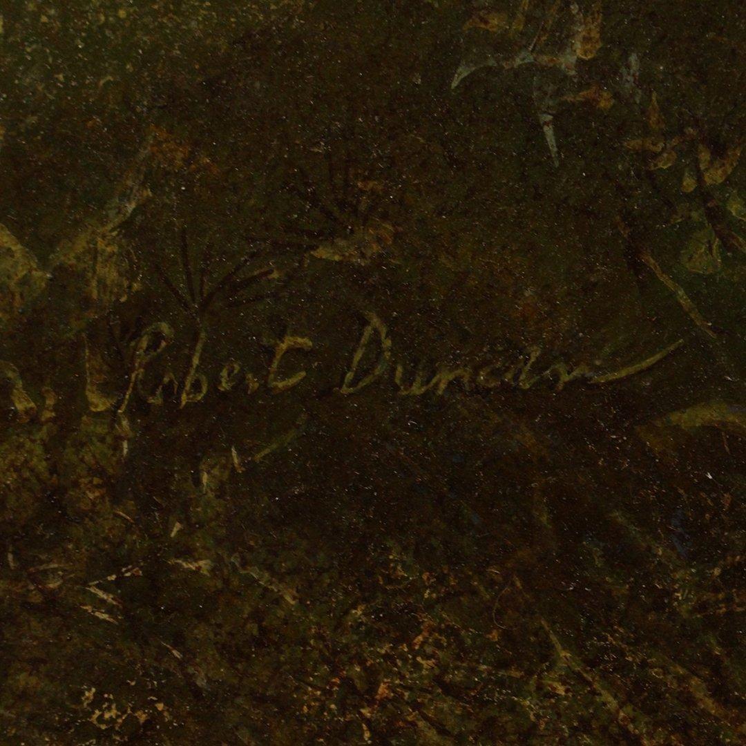 Robert Duncan, Oil on board, Daisy Flower in Landscape - 3