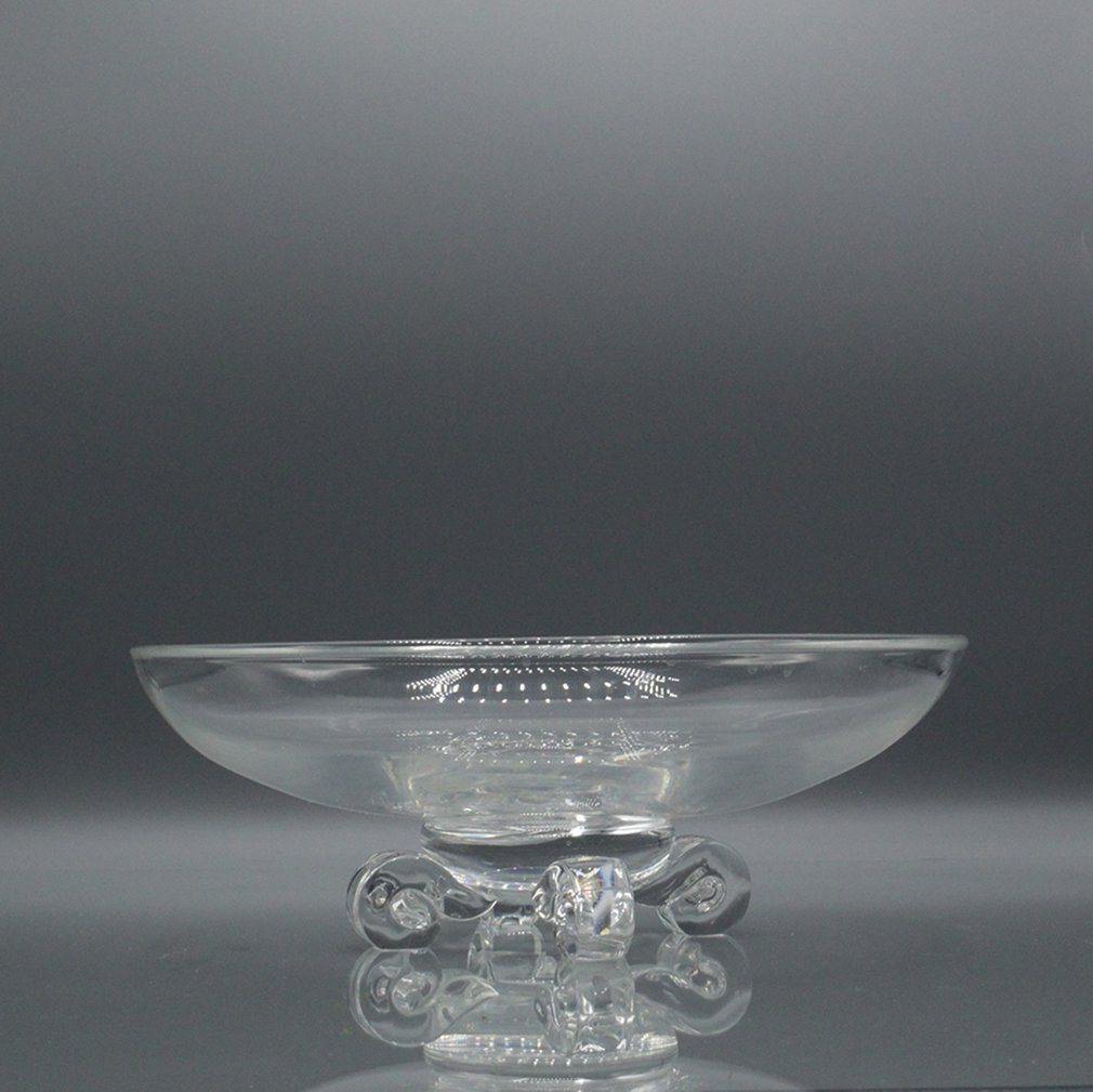 Steuben Crystal Glass Bowl with Footed Pedestal Base