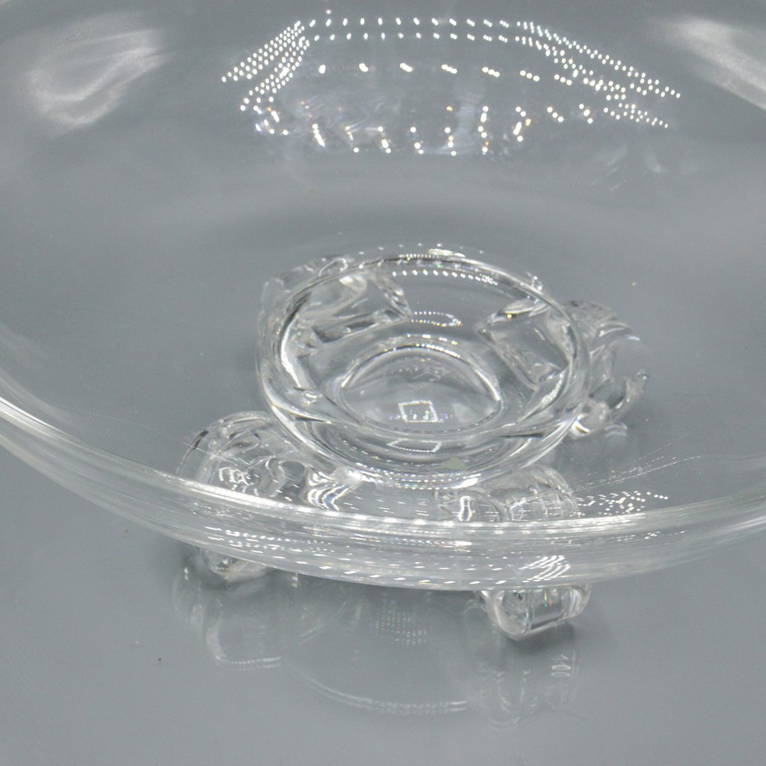 Steuben Crystal Glass Bowl with Footed Pedestal Base - 2