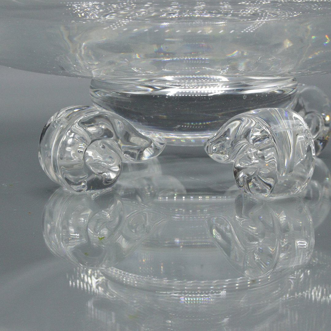 Steuben Crystal Glass Bowl with Footed Pedestal Base - 3