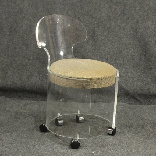 Surprising Mid Century Modern Lucite Vanity Stool Chair Clean Dailytribune Chair Design For Home Dailytribuneorg