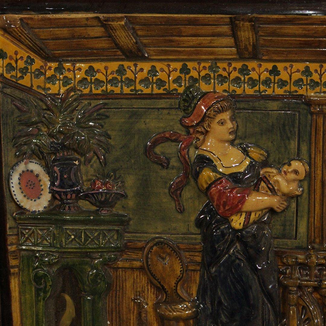 19th C. German Porcelain Relief Plaque Interior Scene - 2