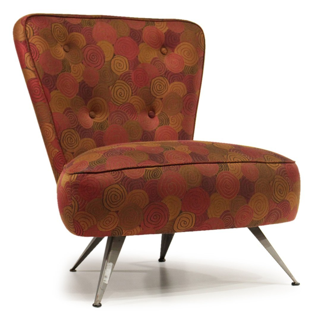 Mid-Century Modern Italian Design Occasional Chair