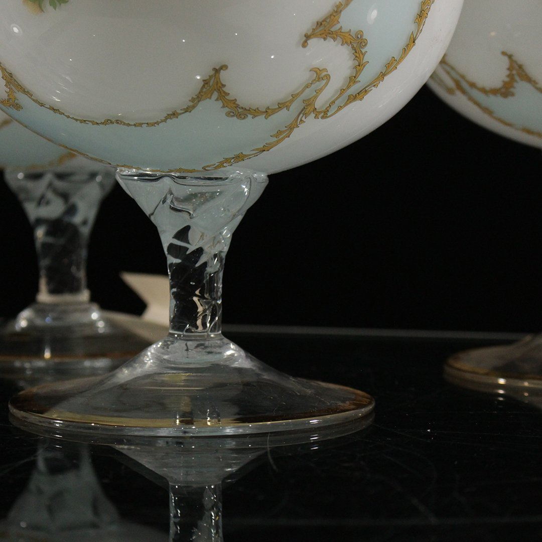 Three [3] Italian Glass Large Snifter / Chalices - 3