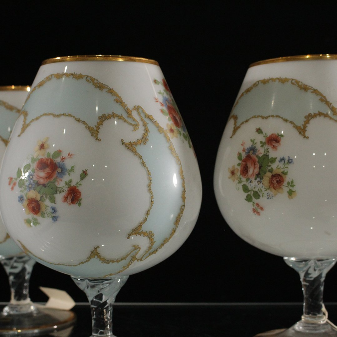 Three [3] Italian Glass Large Snifter / Chalices - 5