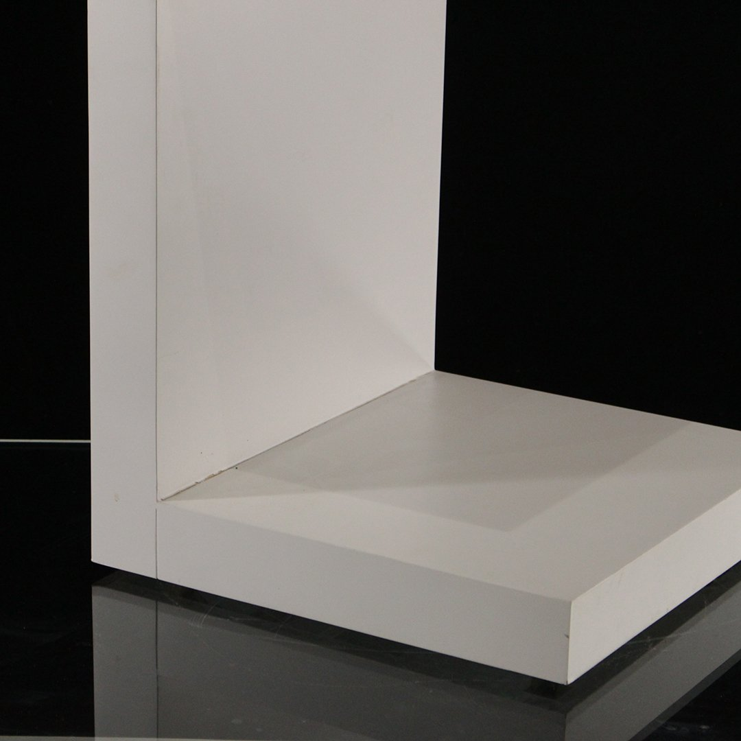 Mid-Century Modern White Formica Floating Stand - 3