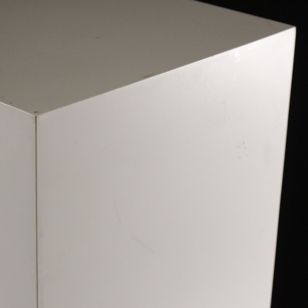 Mid-Century Modern White Formica Floating Stand - 4