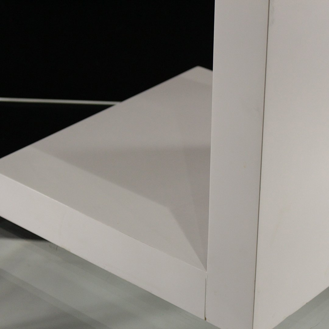 Mid-Century Modern White Formica Floating Stand - 5