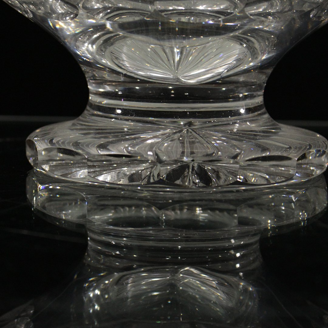 American Brilliant Cut Glass Footed Compote - 6