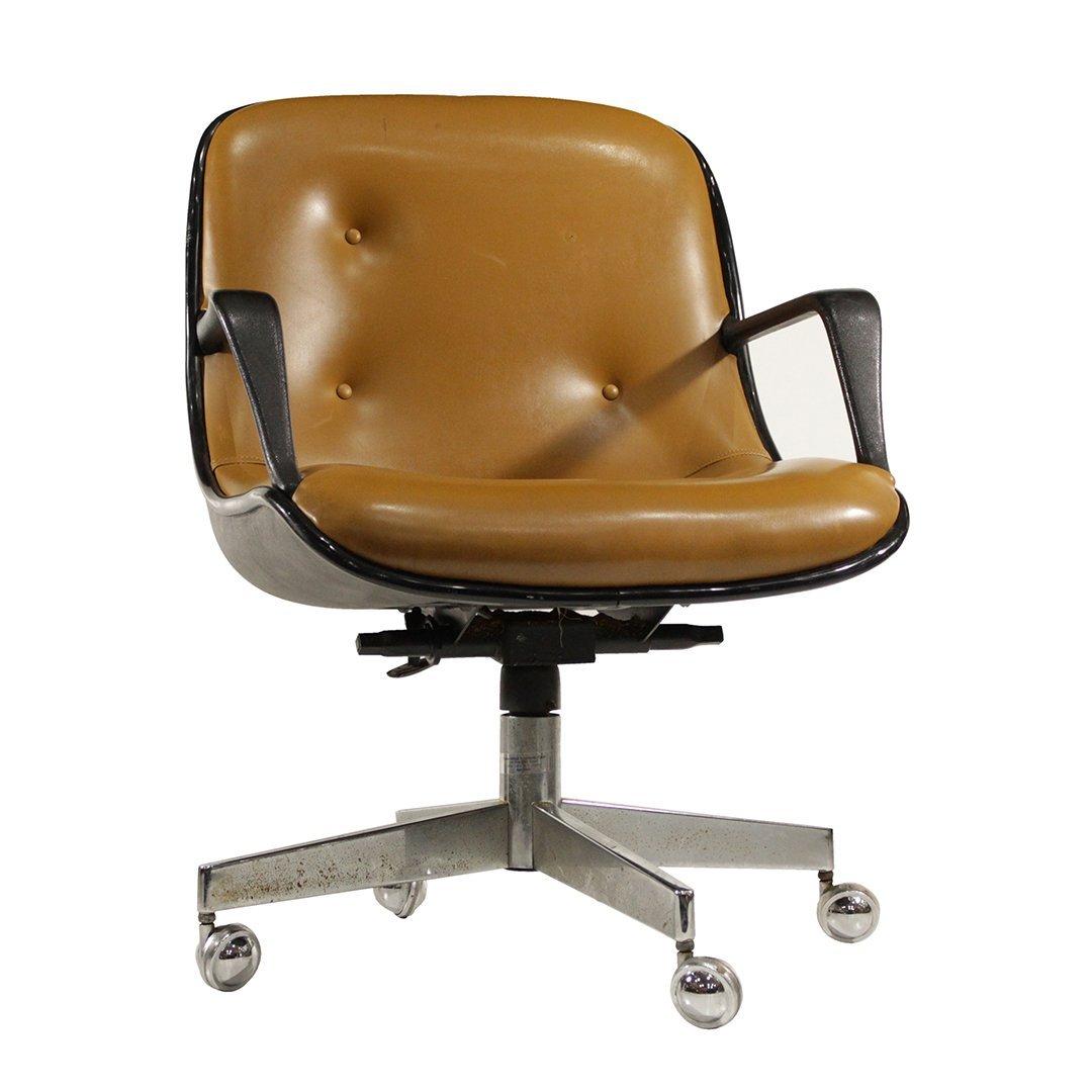 Mid-Century Modern Molded Swivel Office Arm Chair