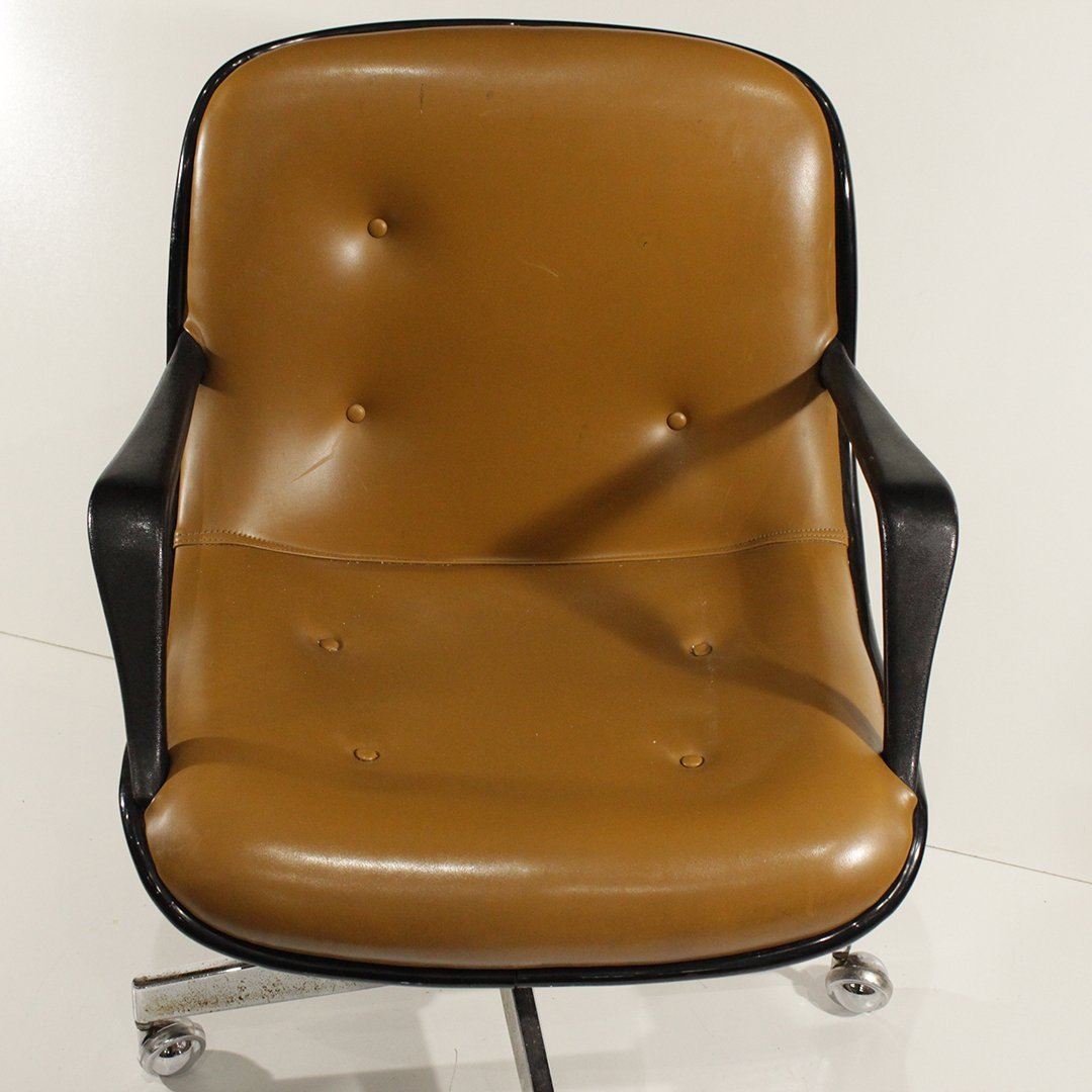 Mid-Century Modern Molded Swivel Office Arm Chair - 4