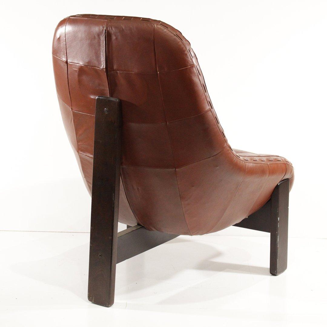 Probel, Brazil Mid-Century Leather Lounge Chair Ottoman - 10