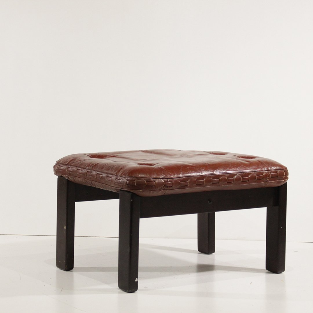 Probel, Brazil Mid-Century Leather Lounge Chair Ottoman - 3