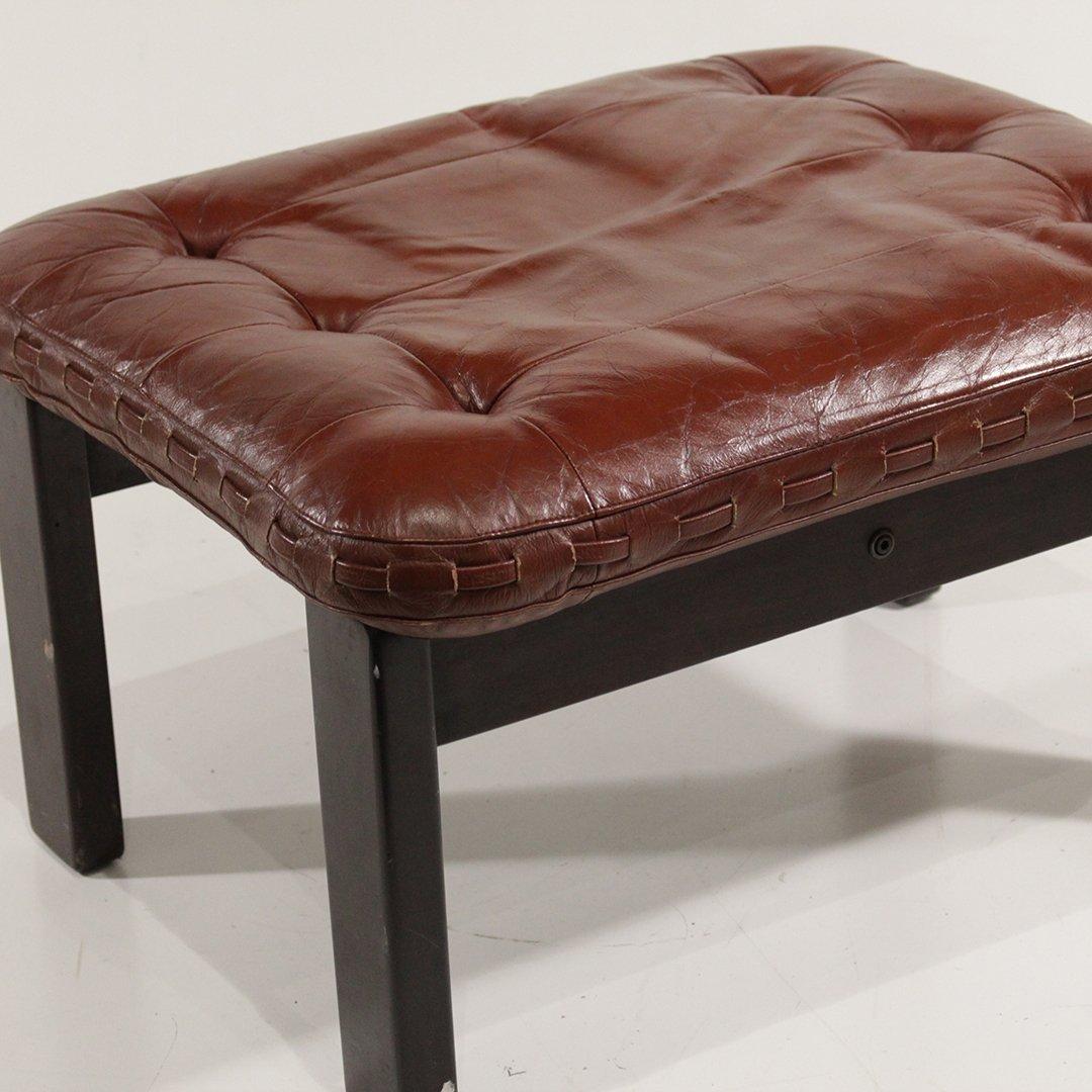 Probel, Brazil Mid-Century Leather Lounge Chair Ottoman - 4