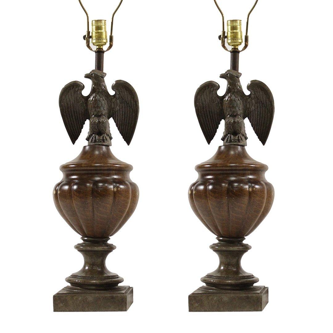 [2] American Eagle Decorative Table Lamps