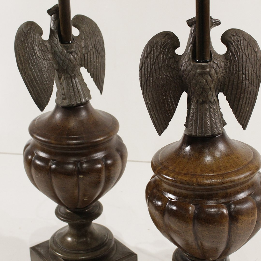 [2] American Eagle Decorative Table Lamps - 8