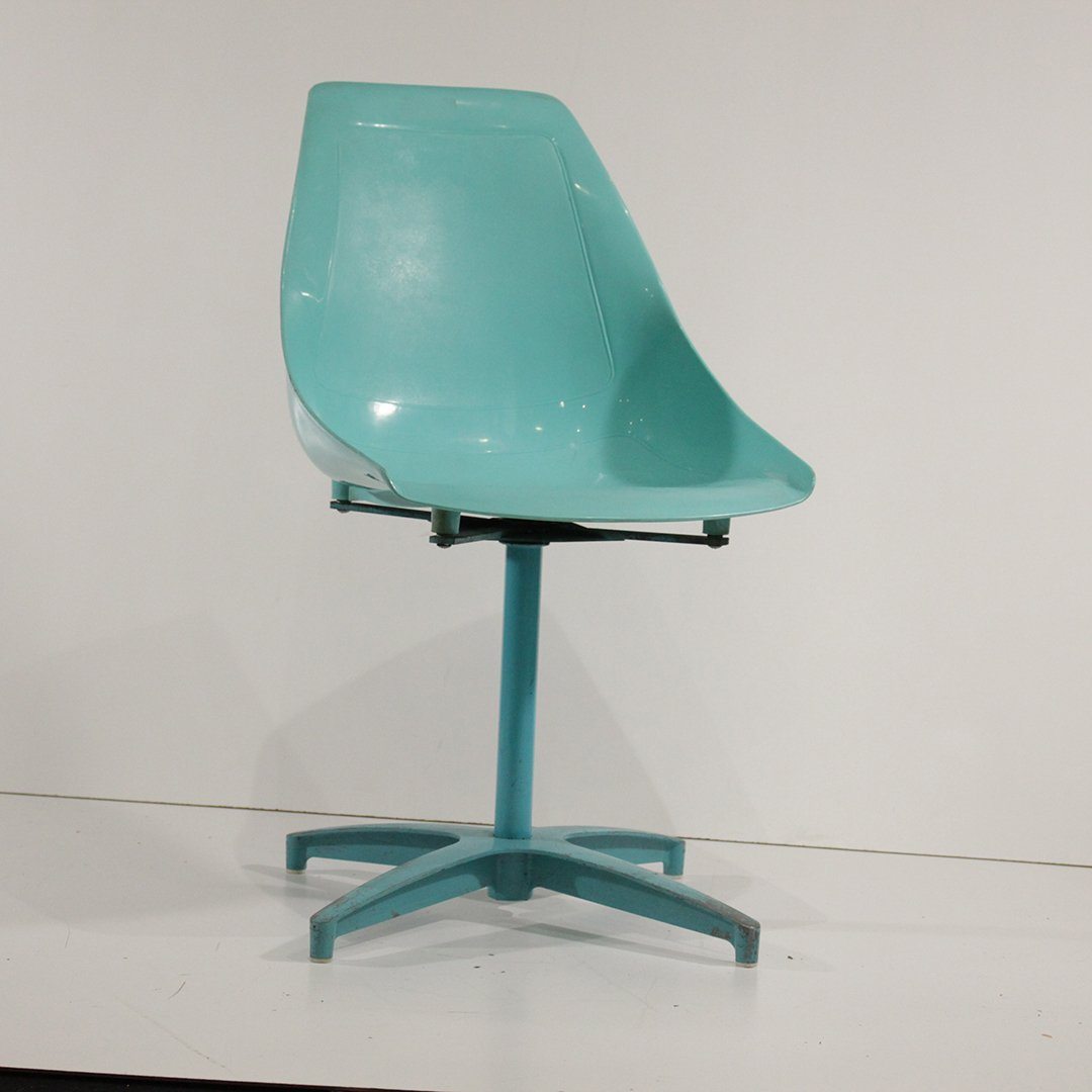 Four [4] Mid-Century Modern Molded Shell Chairs U.S.A. - 2