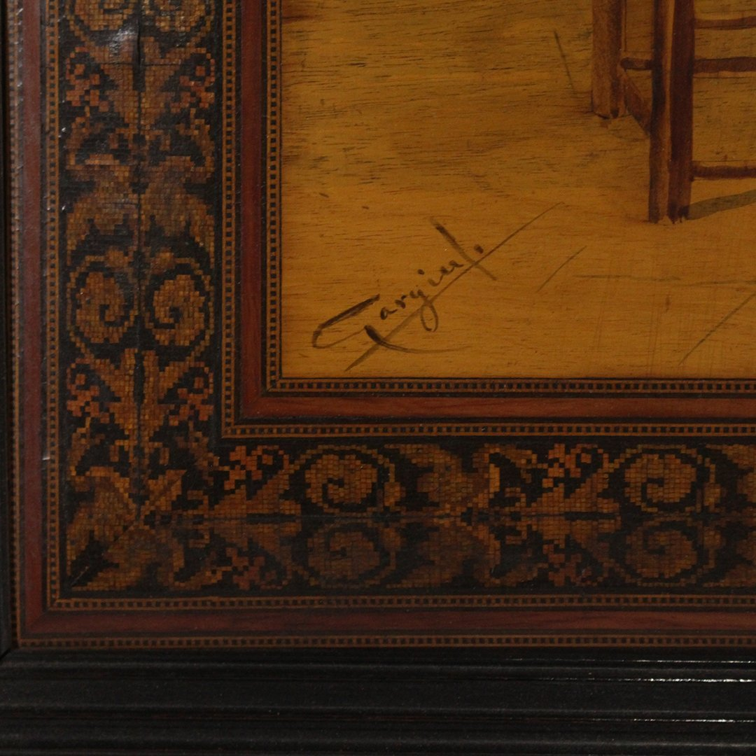 19th C. Quality Italian Marquetry Inlaid Wall Plaque - 2