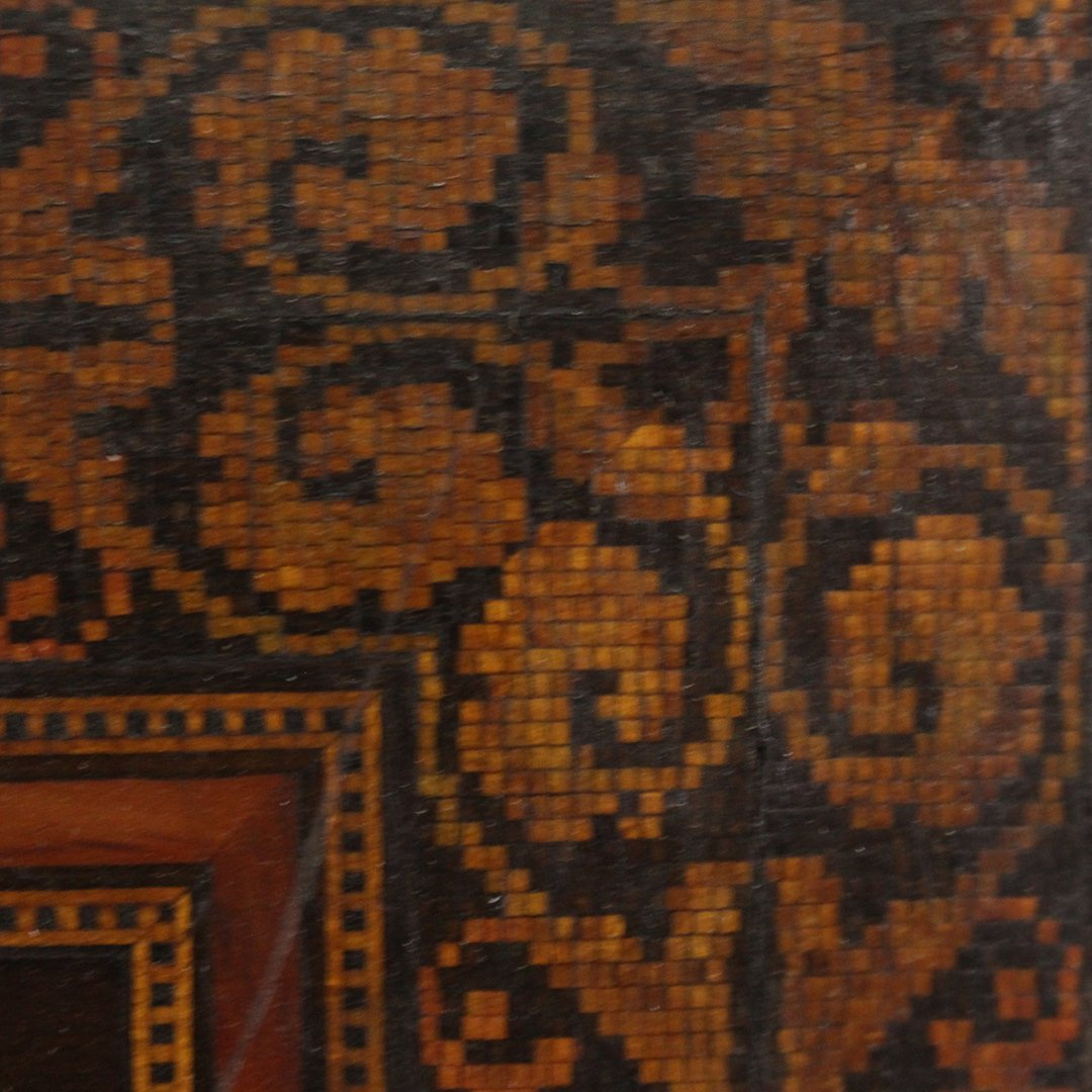 19th C. Quality Italian Marquetry Inlaid Wall Plaque - 5