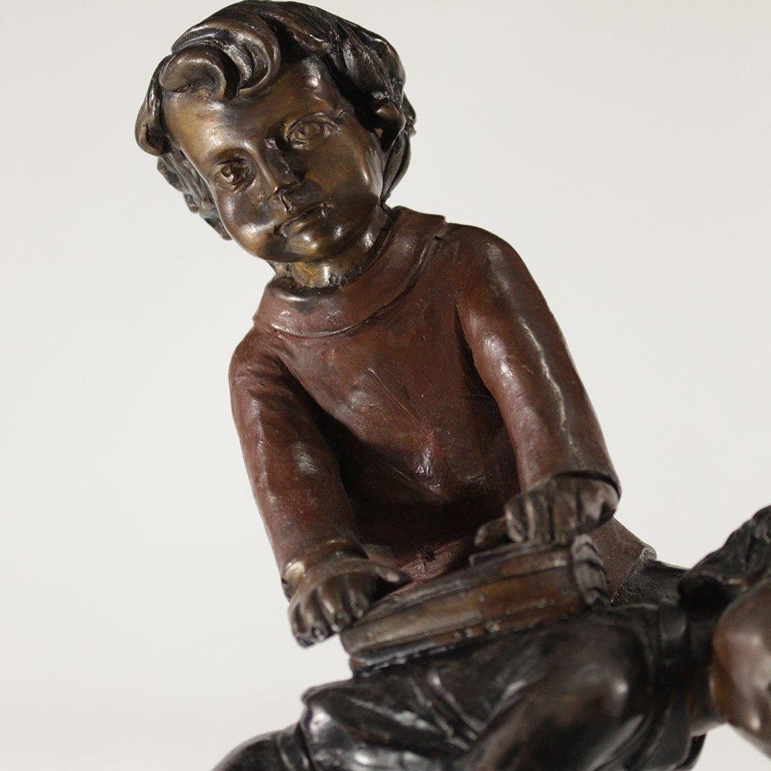 A Moreau, Bronze Sculpture Children Playing Hop Scotch - 3