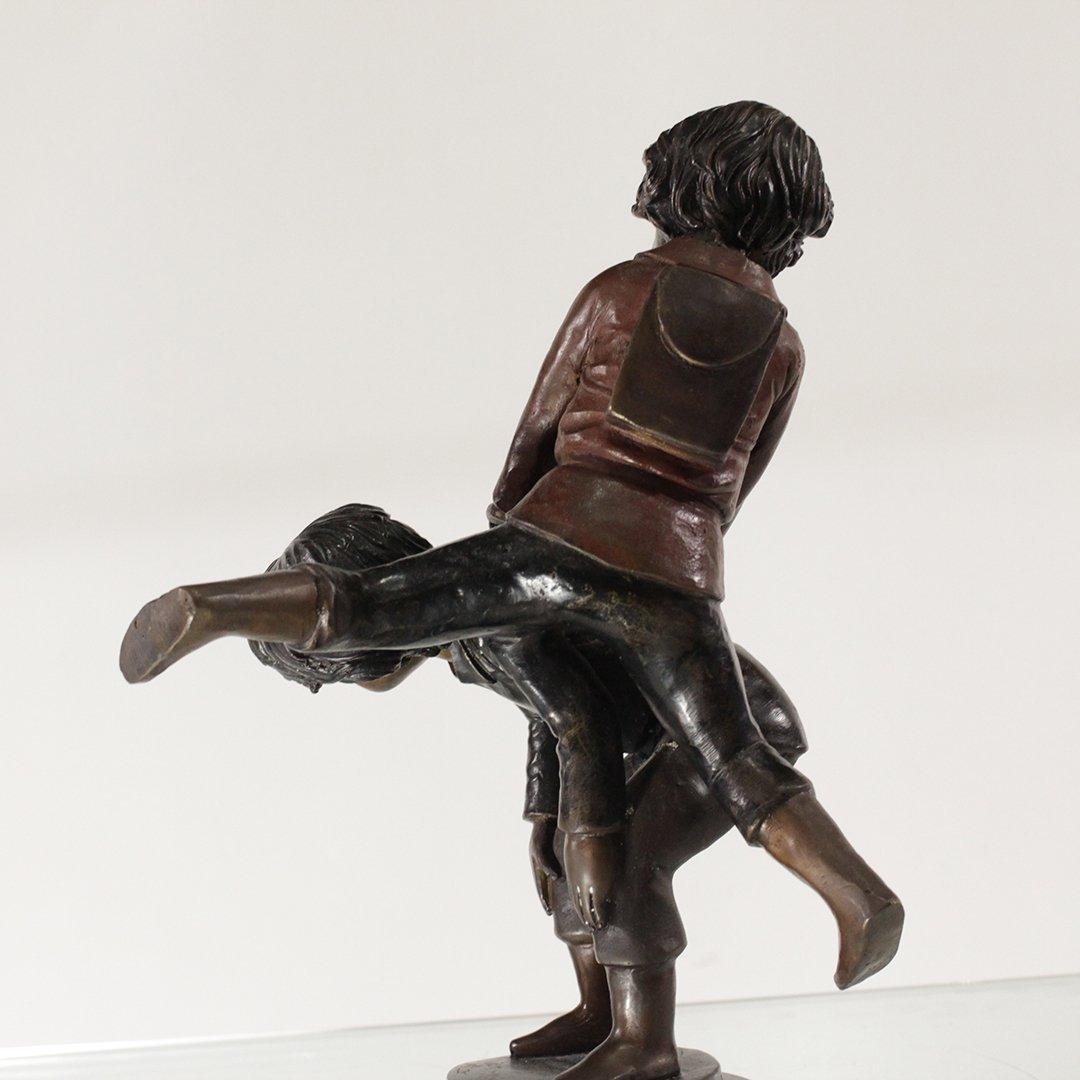 A Moreau, Bronze Sculpture Children Playing Hop Scotch - 5