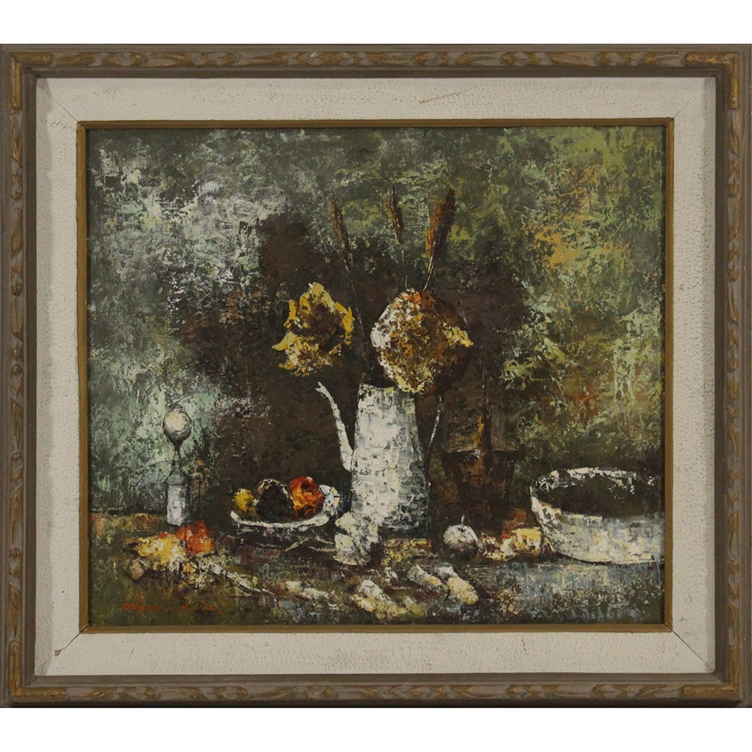 Cho, Korean Artist, Modernism Still Life Oil Painting