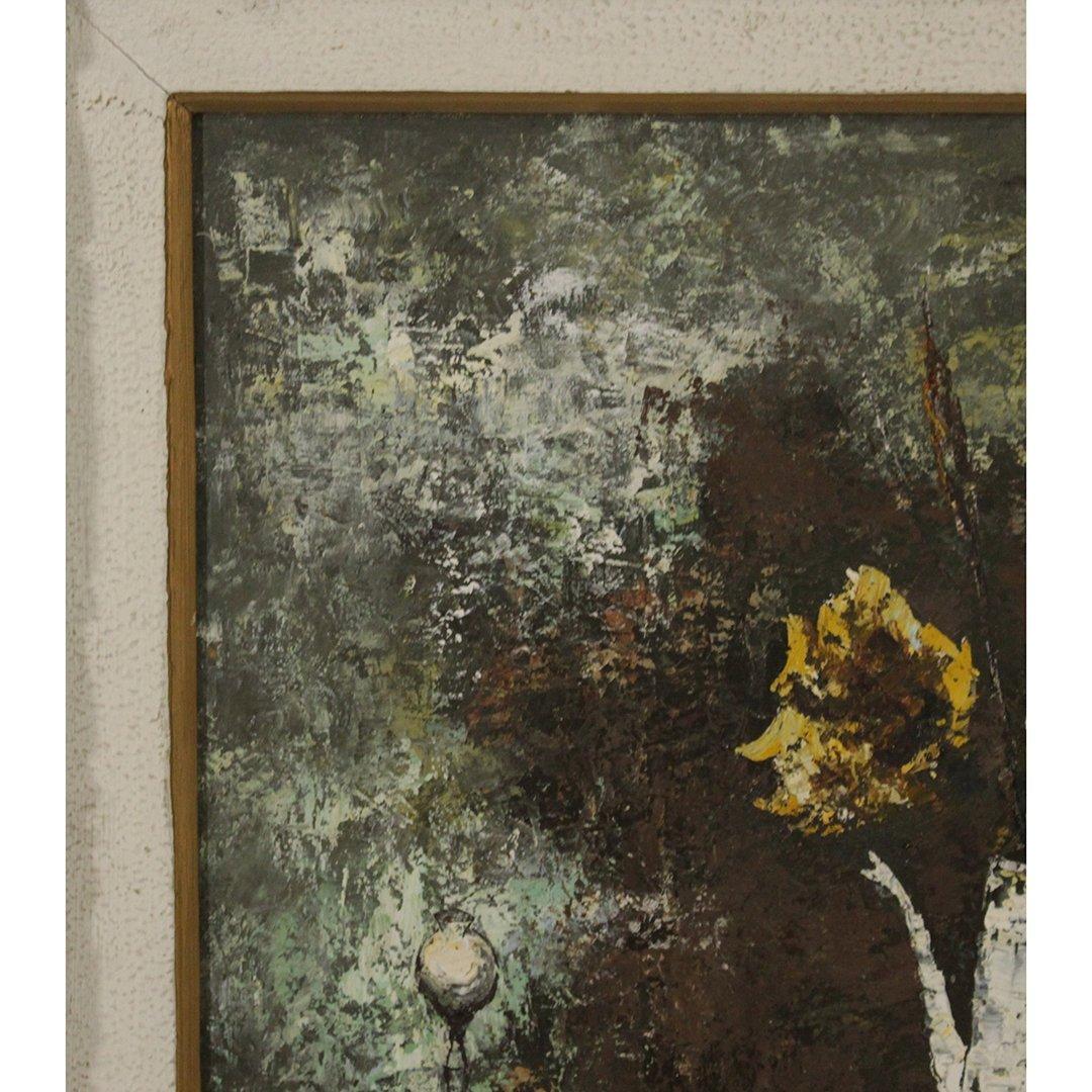 Cho, Korean Artist, Modernism Still Life Oil Painting - 2
