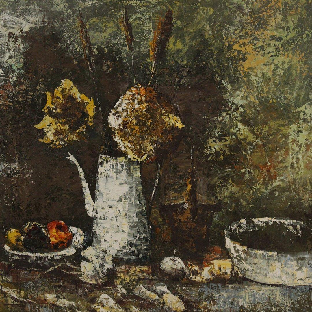 Cho, Korean Artist, Modernism Still Life Oil Painting - 3
