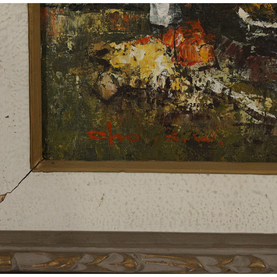 Cho, Korean Artist, Modernism Still Life Oil Painting - 4