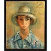 Jacques Zucker PolishAmerican Artist Oilc Portrait