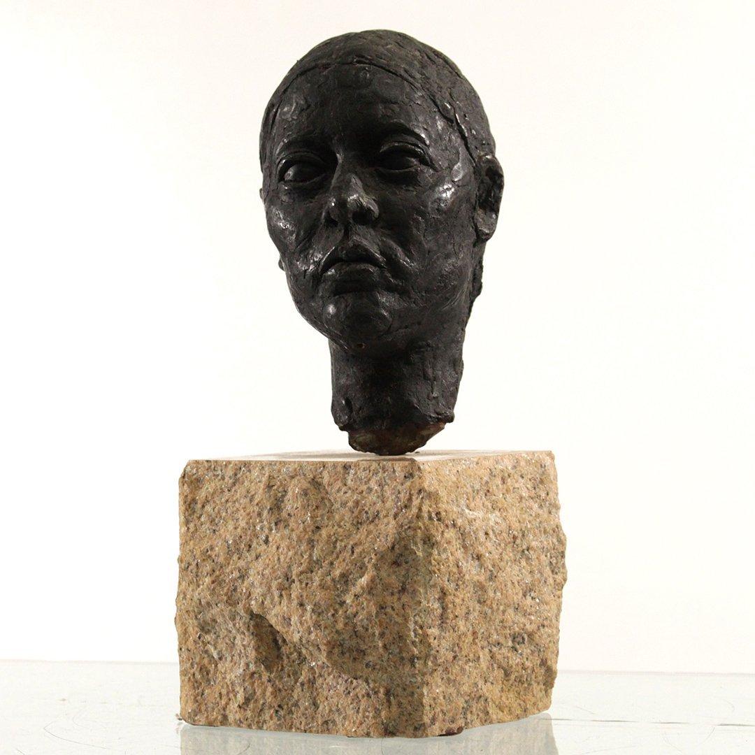 Circa 1930's Bronze Sculpture Head of a Woman