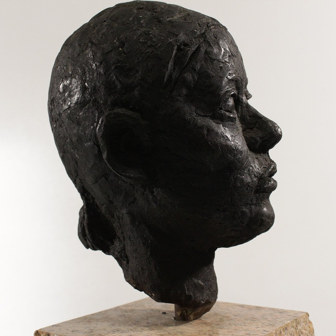 Circa 1930's Bronze Sculpture Head of a Woman - 3