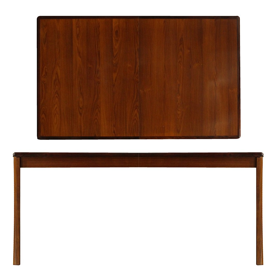 Mid Century Modern Rosewood Dining Table w/ 2 Leaves