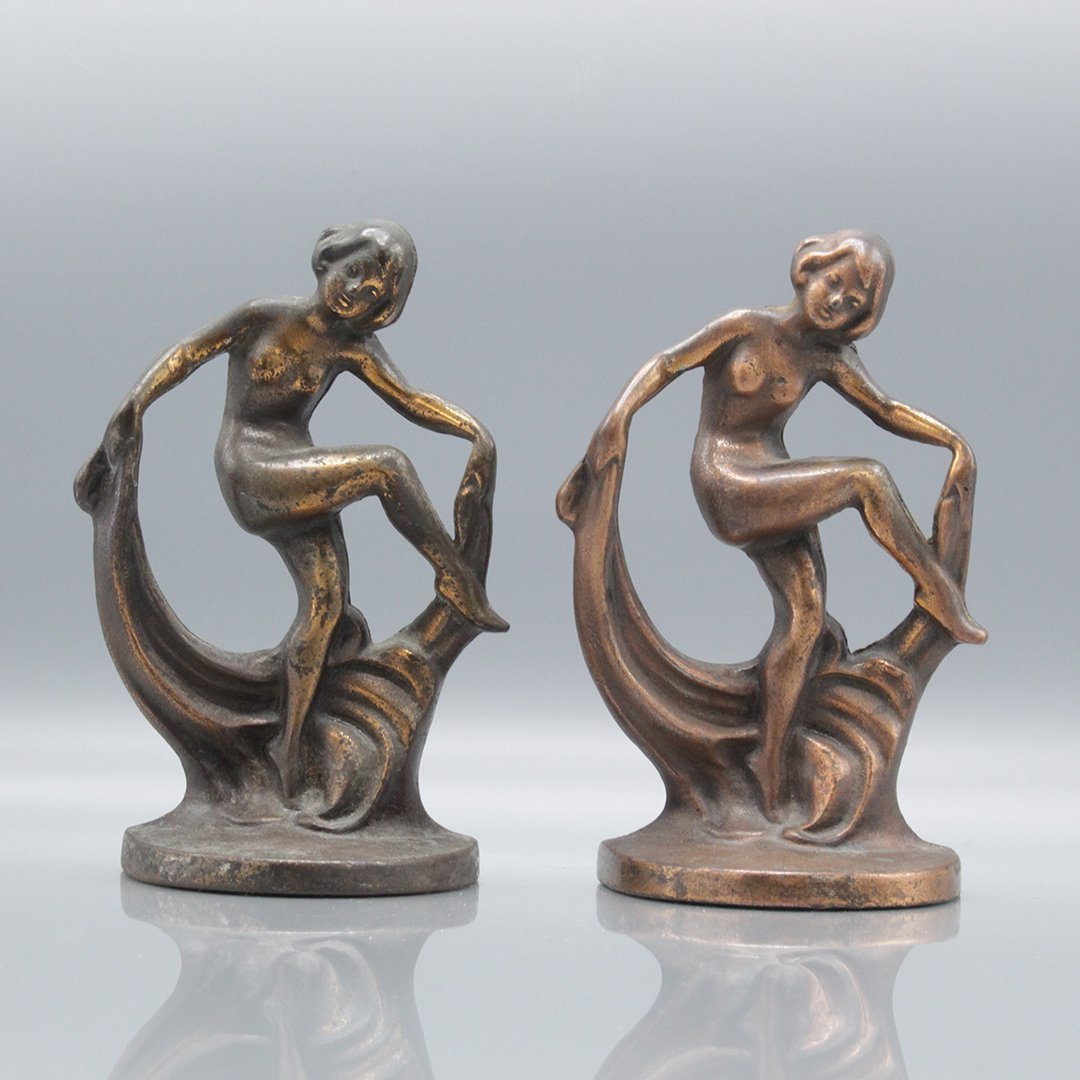 Antique Figurative Art Deco Book Ends
