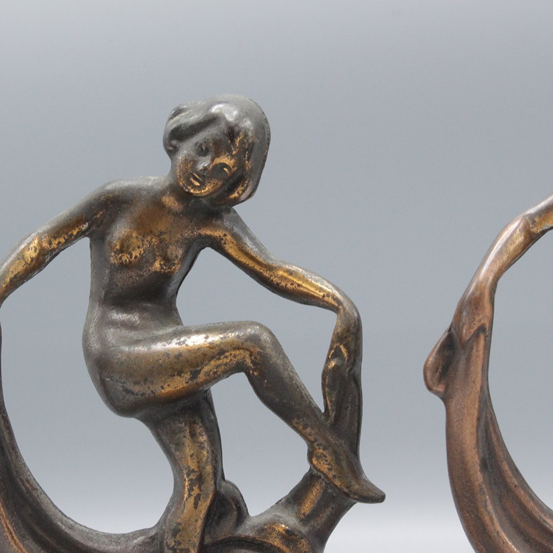 Antique Figurative Art Deco Book Ends - 2