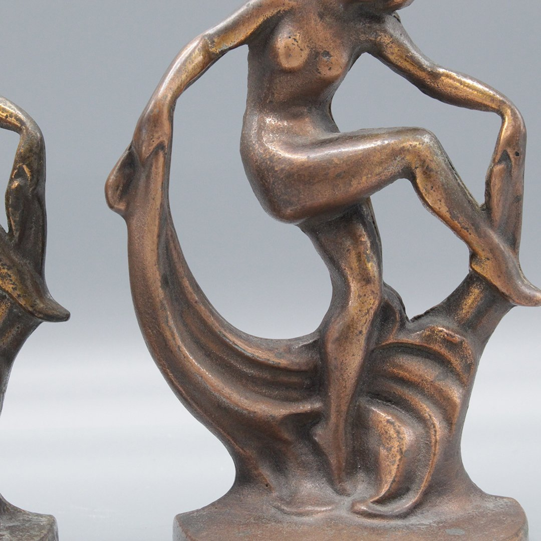 Antique Figurative Art Deco Book Ends - 3