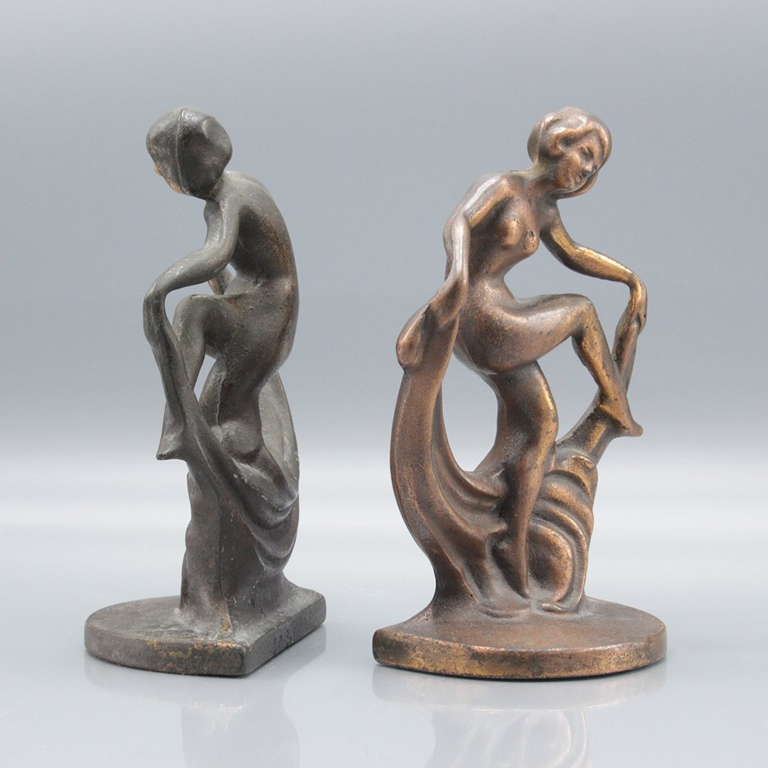 Antique Figurative Art Deco Book Ends - 4