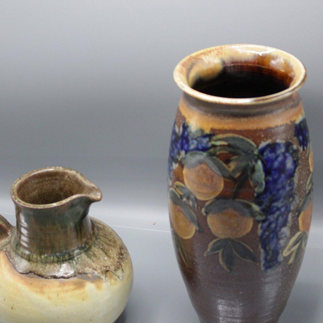 Two [2] P Morris Modern Stoneware Art Pottery - 5