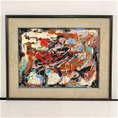 R Monti Abstract Painting On Canvas