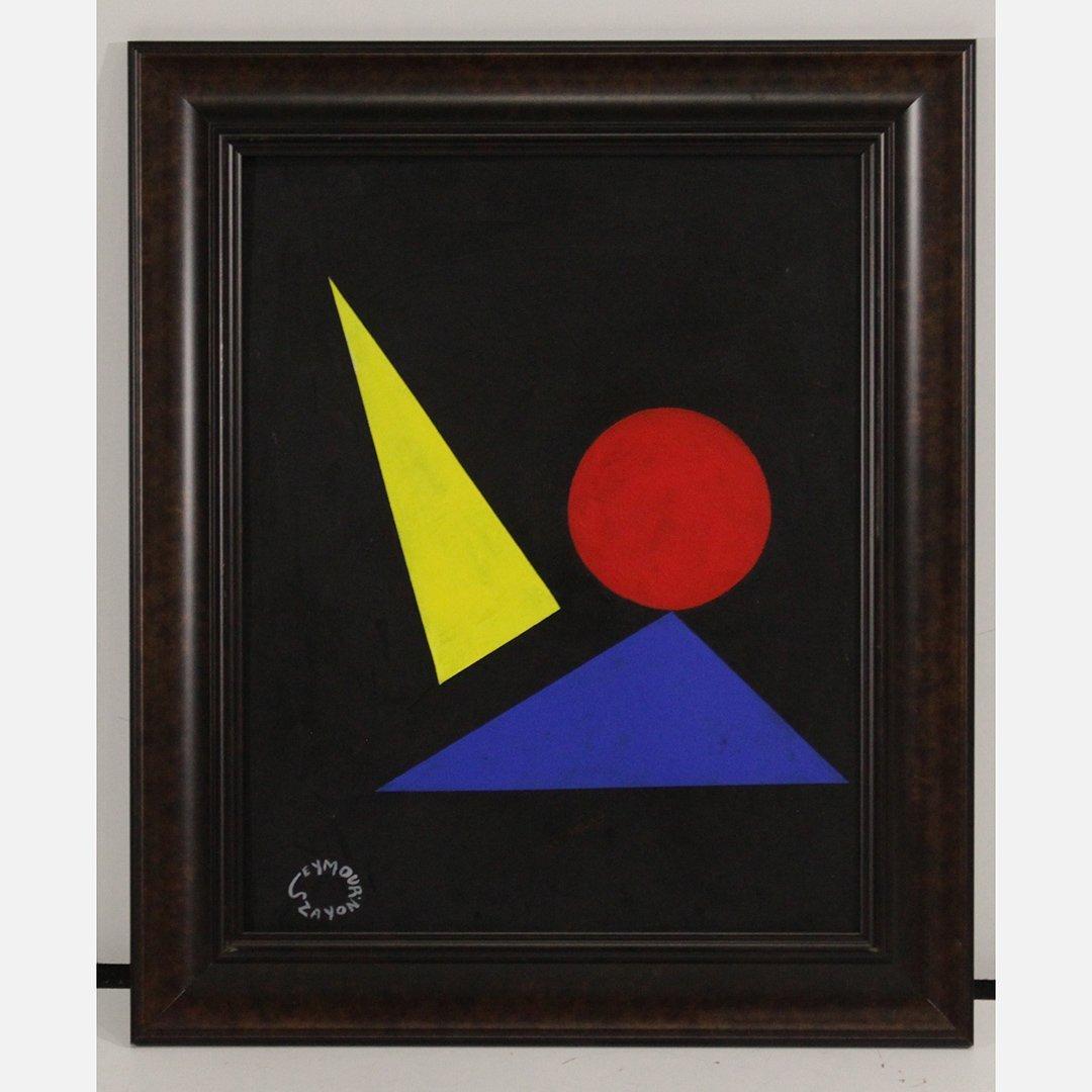 Seymour Zayon Abstract  Mid-Century Modern Geometric