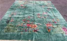 Circa 1930 Chinese Wool Hand Made Room Size Rug